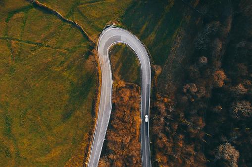 冒険「Countryside road from above」:スマホ壁紙(6)