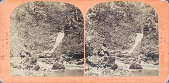 Salzkammergut「Salzkammergut. Hunter At A Waterfall. About 1875. Stereo Photograph By Wilhelm Burger.」:写真・画像(2)[壁紙.com]