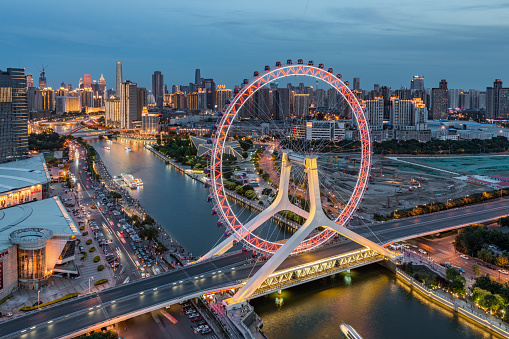 Ferris Wheel「Downtown Tianjin at Night」:スマホ壁紙(17)