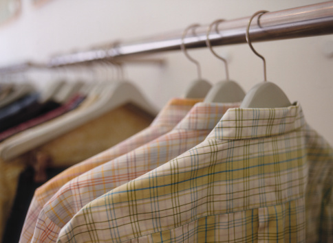 Tartan check「Plaid Shirts on Hangers」:スマホ壁紙(17)