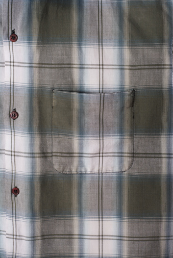 Tartan check「Plaid shirt pocket」:スマホ壁紙(12)