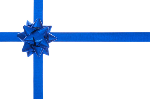 Silk「Blue present bow and ribbon, isolated on white」:スマホ壁紙(14)
