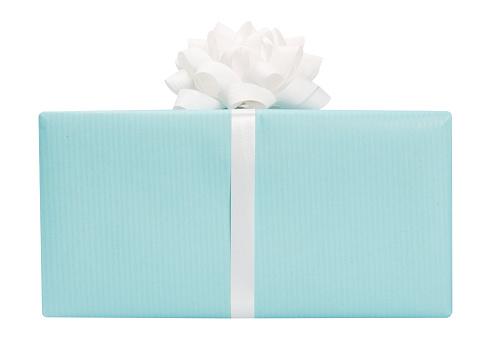 プレゼント「ブルーが、リボン付き」:スマホ壁紙(0)