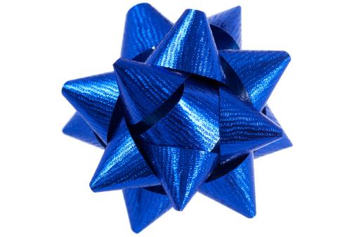 Silk「Blue present bow on white」:スマホ壁紙(15)
