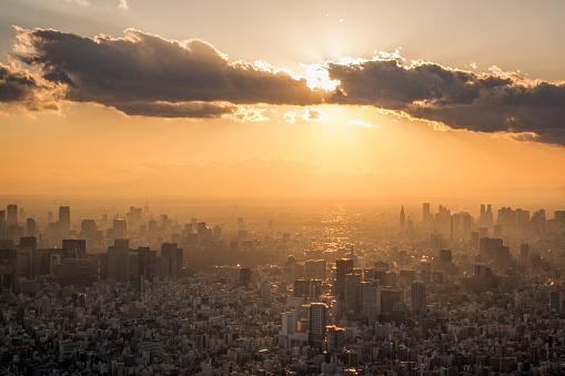 東京都中央区「Tokyo Downtown at sunset」:スマホ壁紙(5)