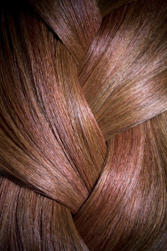 Brown Hair「Close up section of shiny braided red hair.」:スマホ壁紙(16)