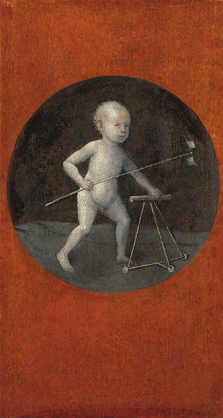 Oil On Wood「Child With Pinwheel And Toddler Chair Reverse Of Christ Carrying The Cross」:写真・画像(5)[壁紙.com]