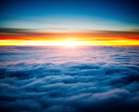 Vibrant Color「雲の壮大な日の出」:スマホ壁紙(7)