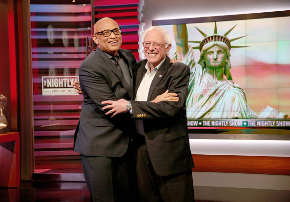 "2016 United States Presidential Election「Senator Bernie Sanders Makes Fourth Appearance on Comedy Central's ""The Nightly Show With Larry Wilmore"" April 13, 2016」:写真・画像(19)[壁紙.com]"