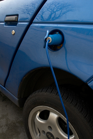 Blue「Electric powered car charging batteries, England, UK」:写真・画像(2)[壁紙.com]