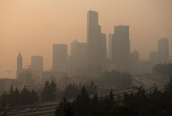 Washington State「Massive Smoke Cloud Descends On Seattle Amid Historic Fires」:写真・画像(7)[壁紙.com]