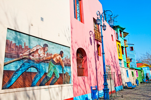 Buenos Aires「Painted buildings, Caminito, La Boca, Buenos Aires」:スマホ壁紙(4)