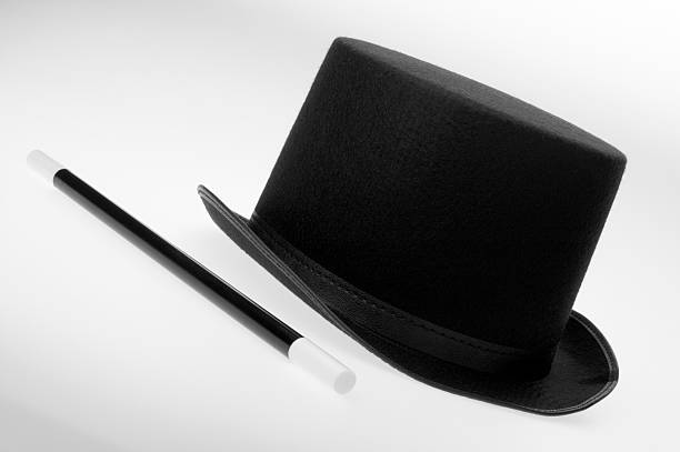 Magician's top hat and wand:スマホ壁紙(壁紙.com)