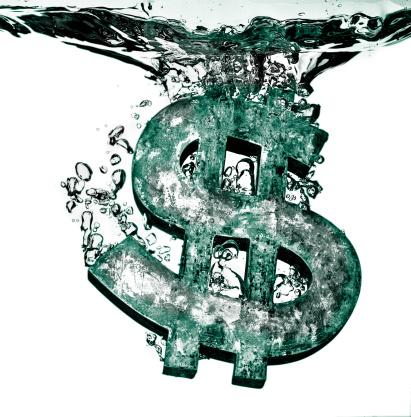East Lothian「Dollar sign sinking in liquid」:スマホ壁紙(16)