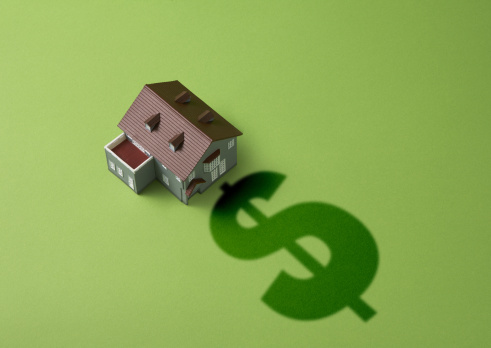 Economic fortune「Dollar sign and miniature house」:スマホ壁紙(1)