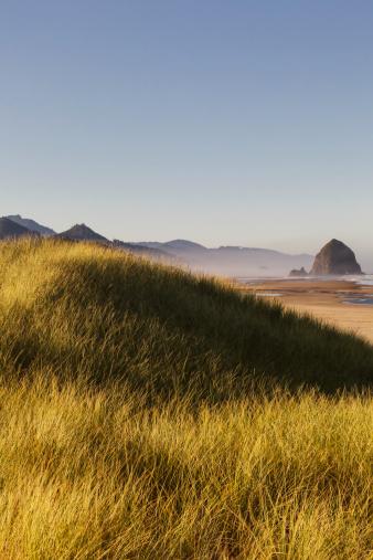 Cannon Beach「Haystack Rock seen from dunes」:スマホ壁紙(13)