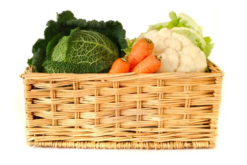 Farmer's Market「Basket of  Vegetables  - Cabbage. Cauliflower & Carrot」:スマホ壁紙(10)