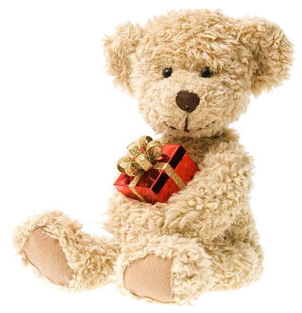 Holiday Teddy Bear and Christmas Gift:スマホ壁紙(壁紙.com)