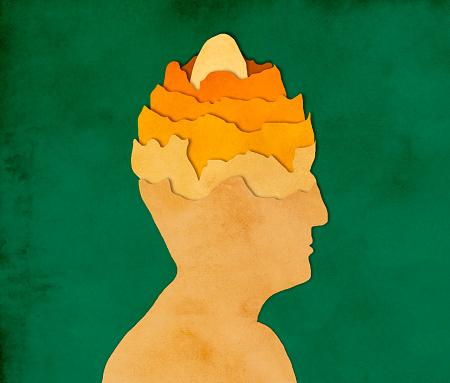 イースター「人間の頭、紙のカット スタイルで卵します。」:スマホ壁紙(2)