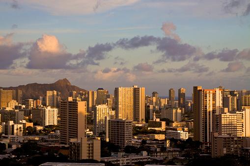 オアフ島「Downtown Honolulu」:スマホ壁紙(9)