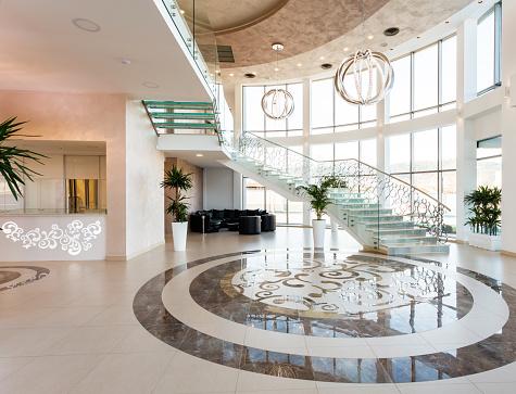 Hotel Reception「Modern hotel lobby」:スマホ壁紙(8)