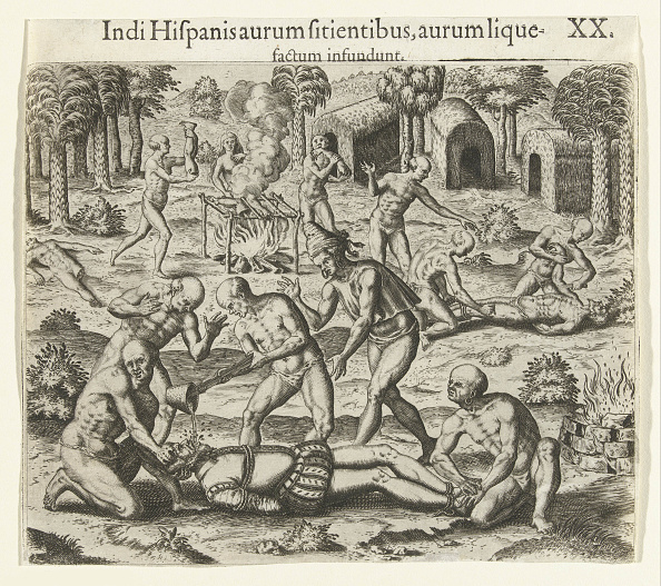 Pouring「Indians Pour Liquid Gold Into The Mouth Of A Spaniard」:写真・画像(4)[壁紙.com]