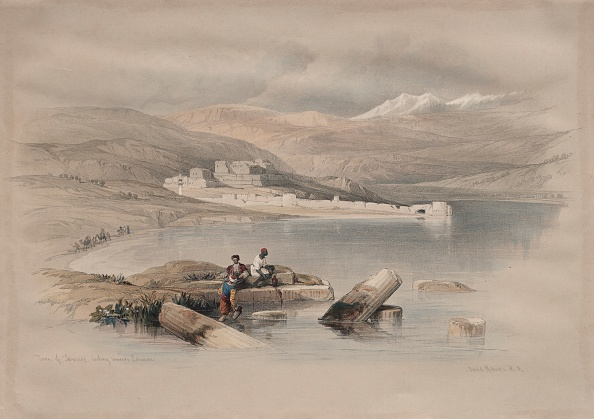 Chromolithograph「Town Of Tiberias Looking Towards Lebanon」:写真・画像(14)[壁紙.com]