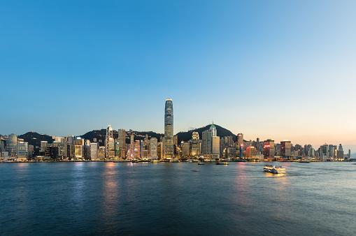 Victoria Peak「Hong Kong cityscape at sunset」:スマホ壁紙(16)