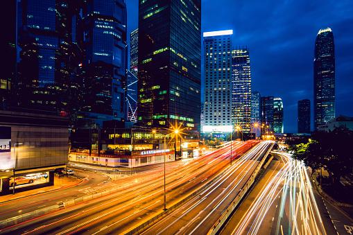 Internet of Things「Hong Kong central district at night」:スマホ壁紙(9)