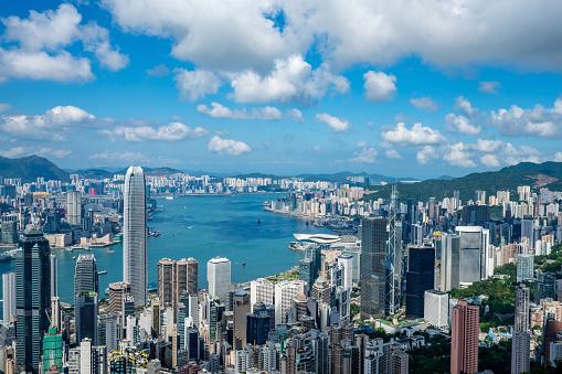 Coastal Feature「Hong Kong city skyline」:スマホ壁紙(8)