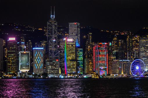 Victoria Peak「Hong Kong cityscape at night」:スマホ壁紙(12)