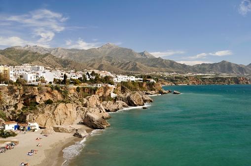 Málaga - Málaga Province「Rugged coastline in Nerja in Malaga, Spain」:スマホ壁紙(17)