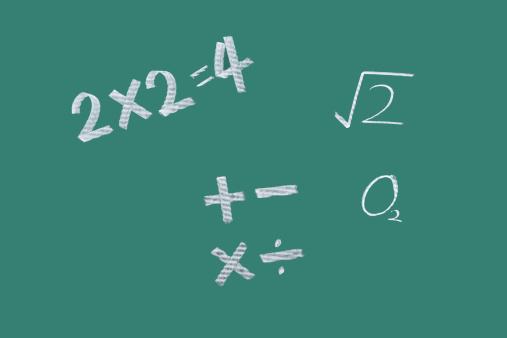 Cartoon「mathematical formula on blackboard」:スマホ壁紙(13)