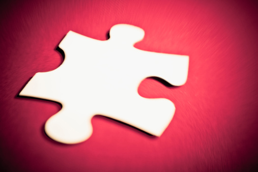 Unrecognizable Person「Close-up of a jigsaw piece」:スマホ壁紙(6)