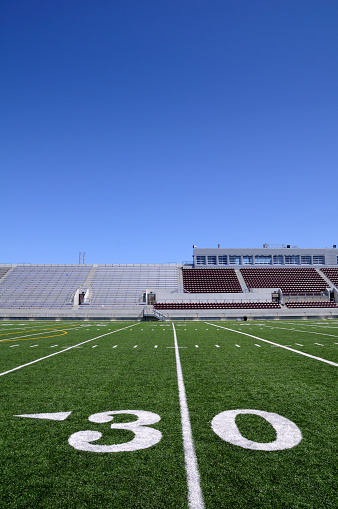 Number「A close-up of the 30 yard line on a football field」:スマホ壁紙(4)