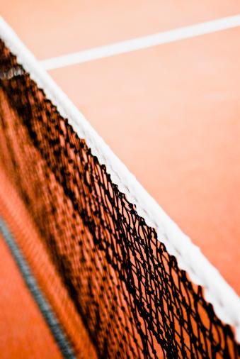 クレイコート「Close-up of a tennis net」:スマホ壁紙(15)