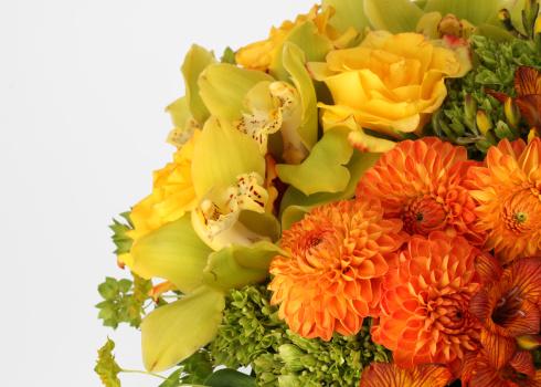 ブーケ「A close-up of a bouquet of flowers」:スマホ壁紙(17)