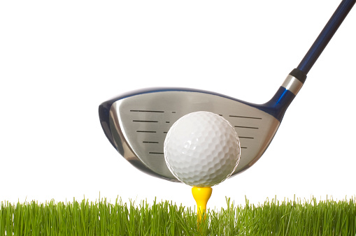 Golf Swing「A closeup of a tee off with a white background」:スマホ壁紙(10)