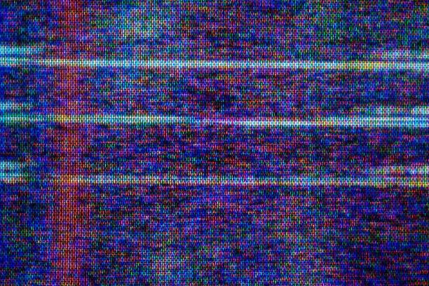 Close-up of television static:スマホ壁紙(壁紙.com)