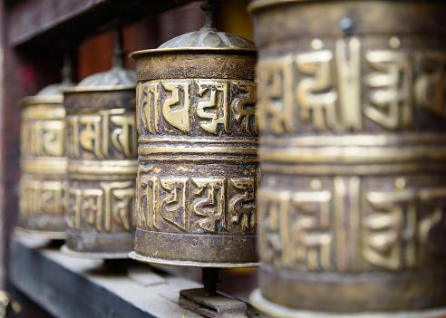 Nepal「Close-up of Prayer wheels in temple, Nepal」:スマホ壁紙(14)