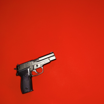 Semi-Automatic Pistol「Close-up of a gun」:スマホ壁紙(11)