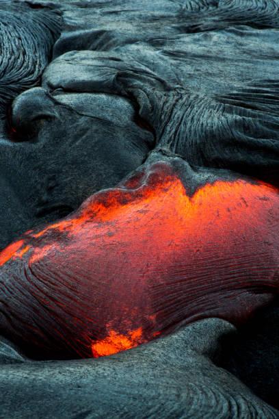 Close-up of a Lava Flow on a mountain, Hawaii, America, USA:スマホ壁紙(壁紙.com)