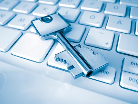 Password「Close-up of a key on a keyboard」:スマホ壁紙(16)