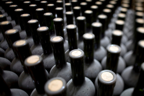 Piedmont - Italy「Close-up of bottles of wine from Italy」:スマホ壁紙(13)