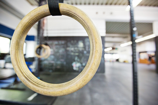 Focus On Foreground「Close-up of gymnastic ring in gym」:スマホ壁紙(4)