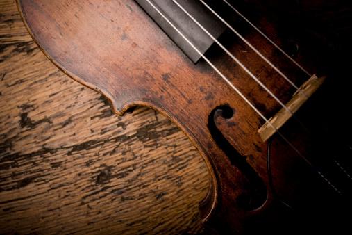 Viola - Musical Instrument「Close-up of Vintage Violion Strings」:スマホ壁紙(10)