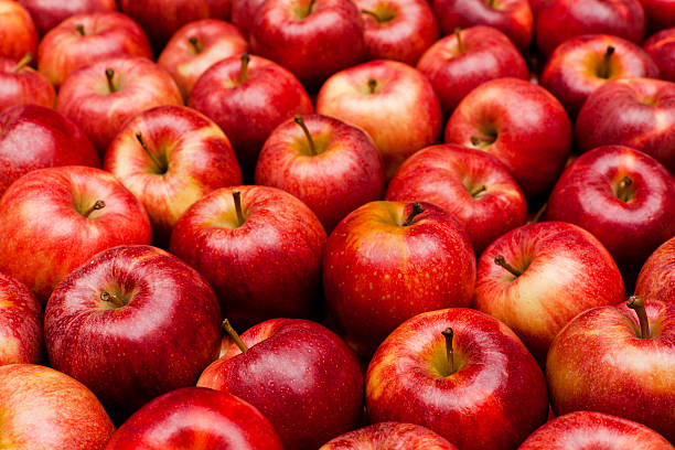 Close-up of red royal gala apples:スマホ壁紙(壁紙.com)