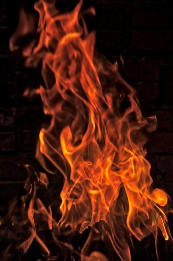 Hell「Closeup of fire」:スマホ壁紙(11)