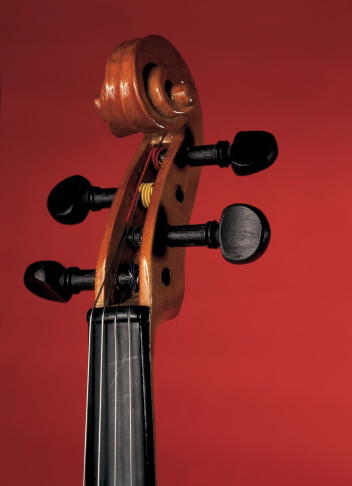 Violin「close-up of head and tuning keys of cello」:スマホ壁紙(9)