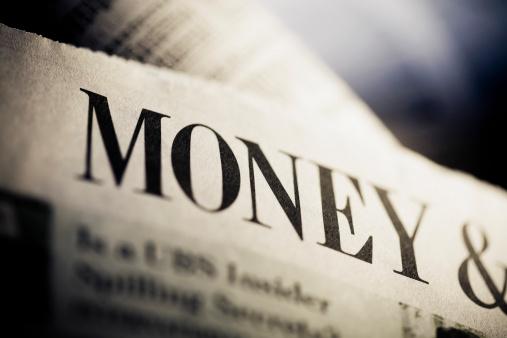Manuscript「Close-up of a financial newspaper」:スマホ壁紙(4)